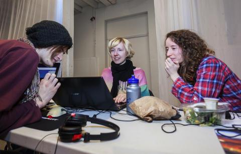 Global Game Jam på Tekniska museet. Foto: Anna Gerdén