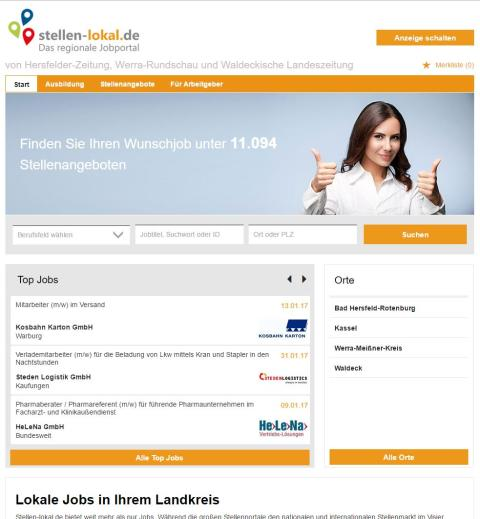 Lokale Jobs im Landkreis Bad Hersfeld-Rotenburg, Werra-Meißner, Waldeck-Frankenberg und Kassel