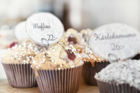 Muffins från Nygrens Café i Alingsås. (Foto: Alingsås kommun)