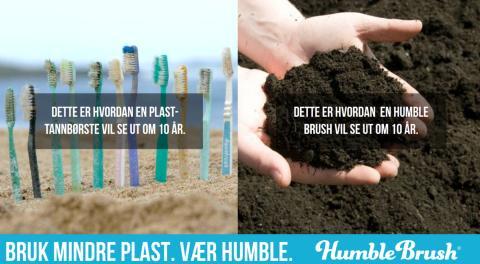 Bytt tannbørste og gjør en forskjell for miljøet hver dag!