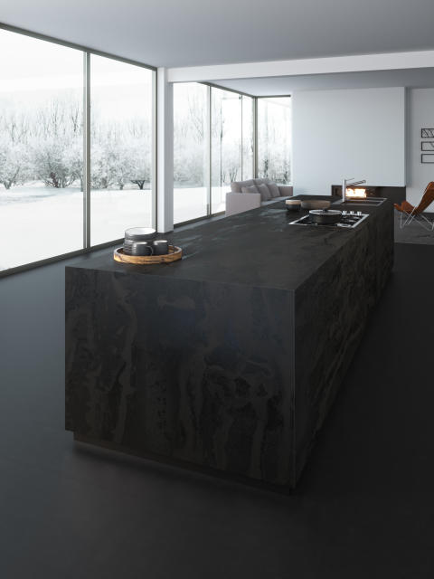 Dekton Radium_kitchen block