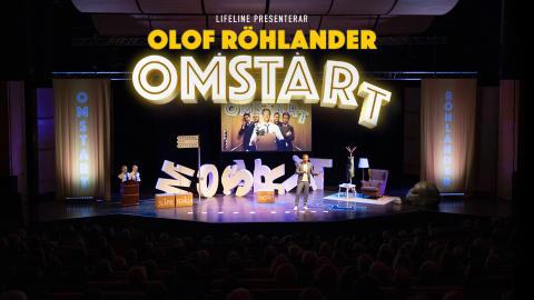 """Olof Röhlander ger ytterligare sex föreställningar av omtyckta inspirationsshowen """"Omstart"""""""