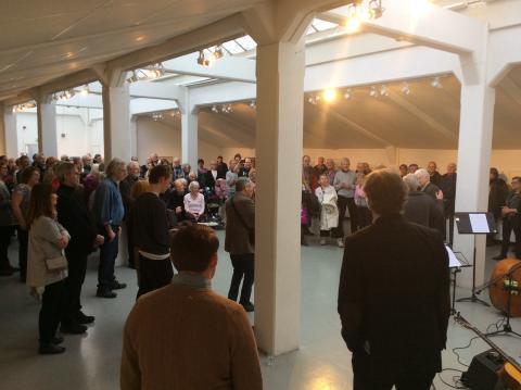 Publiksuccé för Bo Mossberg i Väsby Konsthall