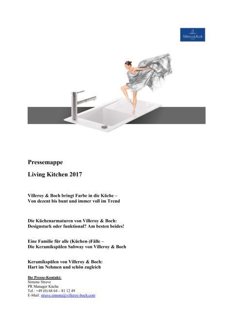 Pressemappe Living Kitchen 2017