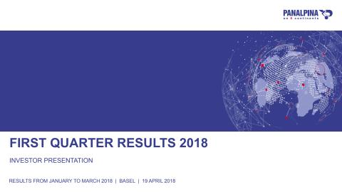 First Quarter Results 2018 – Investor Presentation