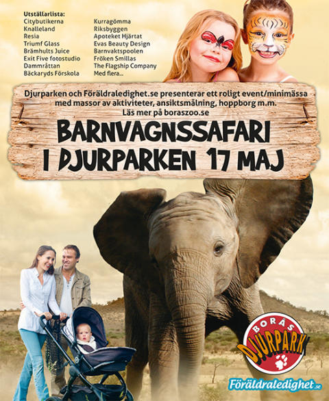 Premiär för Vårens Barnvagnssafari i Borås Djurpark