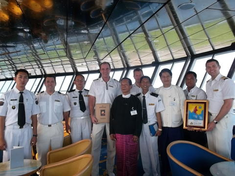 Fred. Olsen Cruise Lines' Balmoral makes maiden call at Myanmar