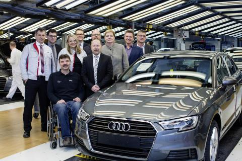 Audi modtager pris for integration af handikappede medarbejdere