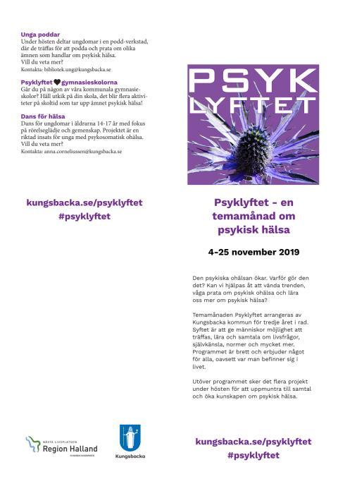 Psyklyftet 2019 - program för temamånad om psykisk hälsa