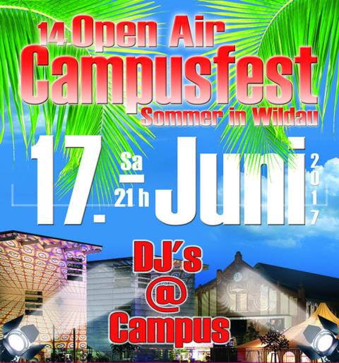 """Hochschulangehörige und Gäste feiern Ende des Akademischen Jahres 2016/2017 am 17. Juni 2017 mit dem 14. Campusfest """"Sommer in Wildau"""""""