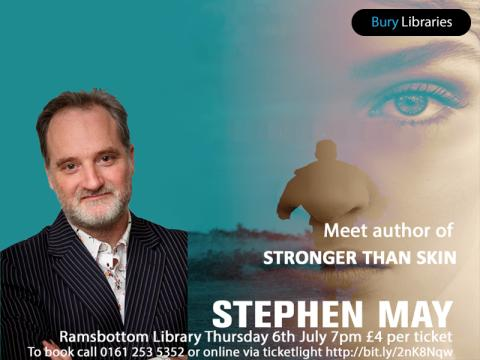 ​Meet award-winning author Stephen May at Ramsbottom Library