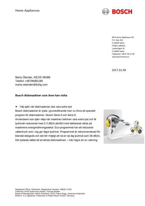 Bosch diskmaskiner  som även kan viska