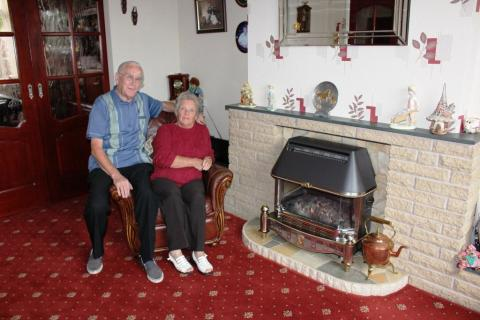 Safe as houses: George and Marjorie have peace of mind now they know their fire is safe