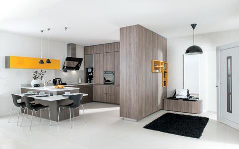 Schmidt køkken moderne egetræ