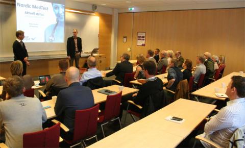 Företag fick statusrapport om Nordic MedTest