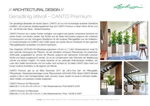 Geradlinig stilvoll – CANTO Premium