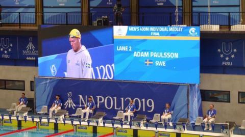 Svenskt rekord igen i simning under Sommaruniversiaden