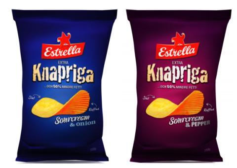 Dubbelt så knapriga chips med hälften så mycket fett