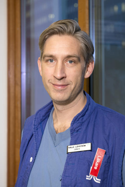 Kalle Löfström, biträdande överläkare och studierektor för ST-utbildningen på Anestesi/IVA-kliniken på Danderyds sjukhus.