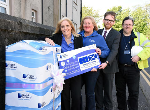 More of Irvine goes superfast thanks to Digital Scotland
