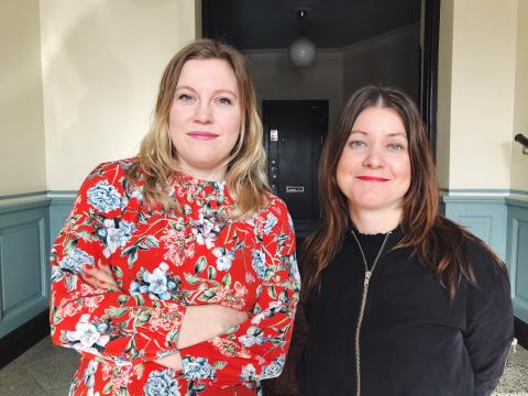 Johanna Lyngarth och Martina Lindgren