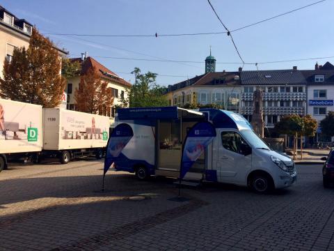 Beratungsmobil der Unabhängigen Patientenberatung kommt am 3. April nach Darmstadt.