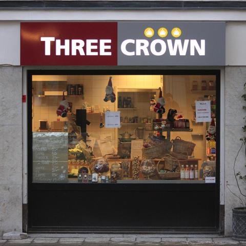 Ljusskylt Three crown
