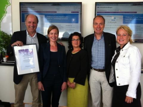 HUS-projekt fick utmärkelse av Arbetsförmedlingen i Almedalen