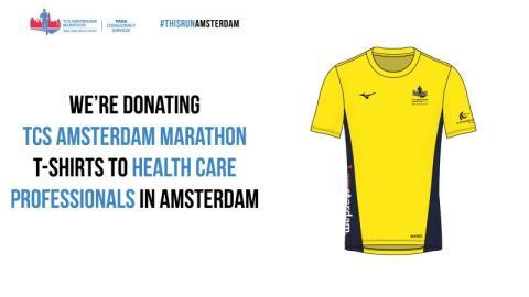 TCS doneert Amsterdam Marathon shirts aan zorgpersoneel VUmc Amsterdam