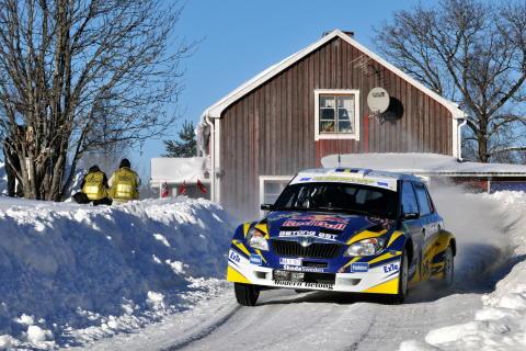 Sandells första seger i Svenska Rallyt