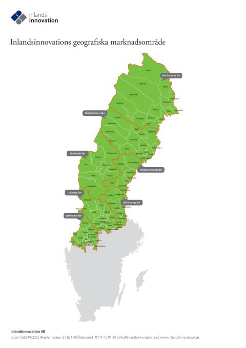 Inlandsinnovations geografiska marknadsområde