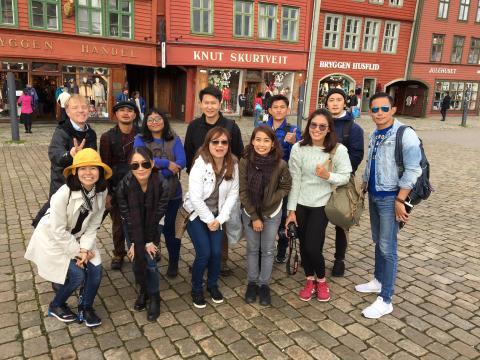 Thailandske journalister på besøk i Bergen