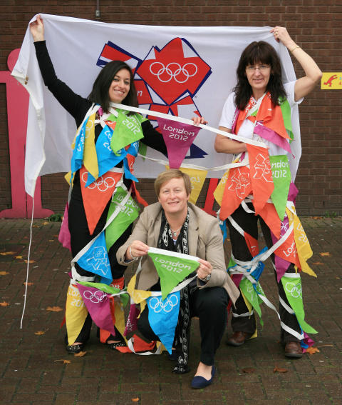 Olympic bunting gets recycled