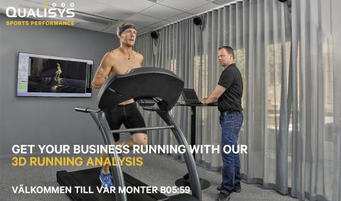 Qualisys 3D löpanalys på Göteborgsvarvet Expo