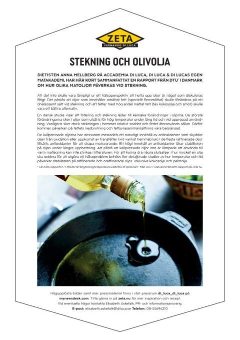 Zeta faktablad stekning & olivolja