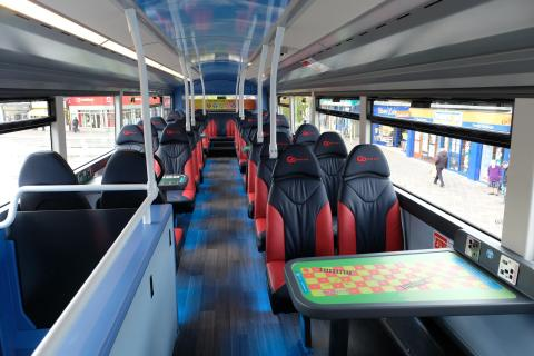 The new X9 X10 bus feature gaming tables