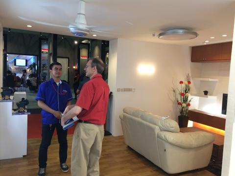 Home Solution Area including Ceiling Fan and Interior Lighting
