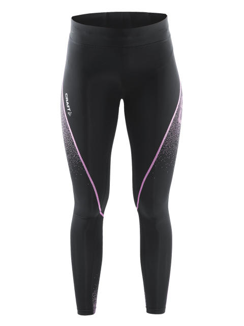 Delta Compression long tights för dam i färgen black/pop
