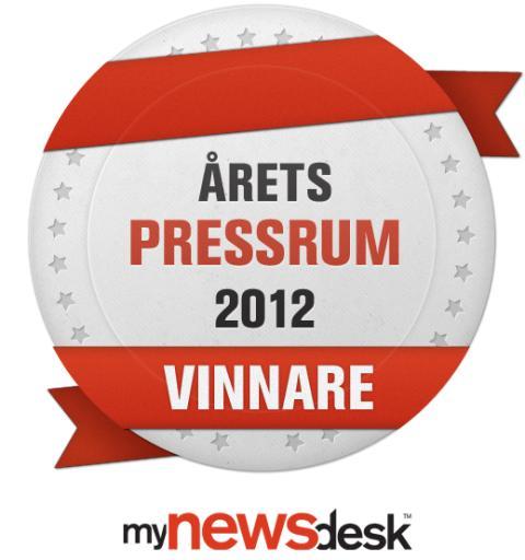 Saint-Gobain Abrasives vinnare av Årets Pressrum 2012 - Badge