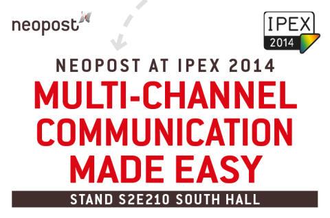 Neopost To Exhibit at IPEX 2014
