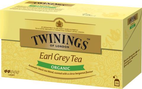 Twinings Earl Grey Organic 25 påsar