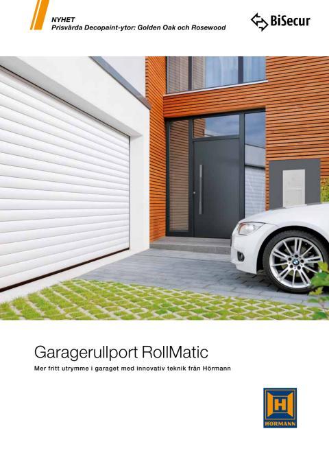 Garagerullport RollMatic - Mer fritt utrymme i garaget med innovativ teknik från Hörmann