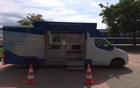 Beratungsmobil der Unabhängigen Patientenberatung kommt am 6. März nach Wolfsburg.