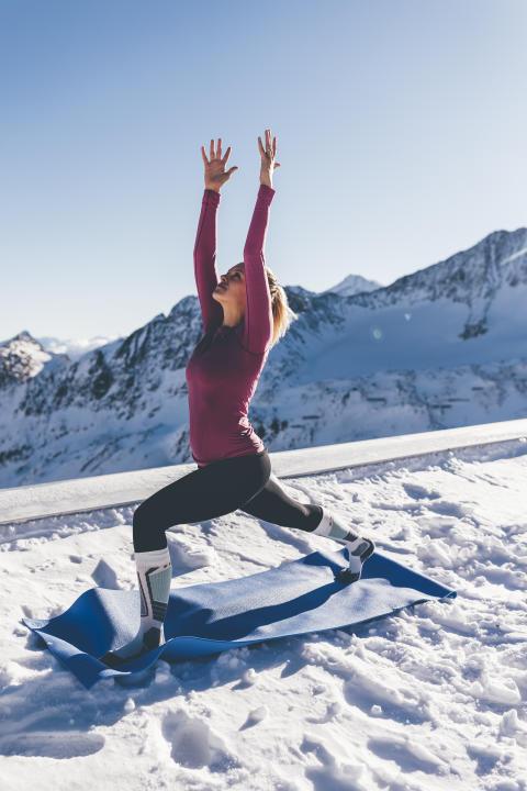 Yoga beim GletscherTestival
