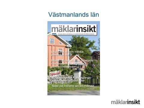 Mäklarinsikt Västmanlands län 2016:3