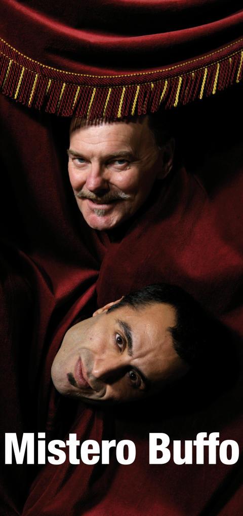 Mistero Buffo av Dario Fo med Özz Nûjen och Björn Granath på Folkteatern Göteborg