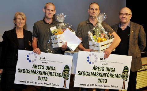 Årets Unga Skogsmaskinföretagare heter Håkan Nilsson och Fredrik Nilsson