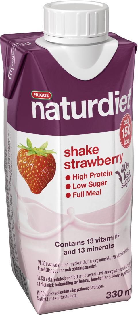 Naturdiet Strawberry shake - nu med mindre socker