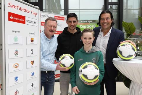 Santander Cup 2018:  Auslosung mit Borussia-Kapitän Lars Stindl