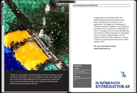 Hr Björkmans Entrémattor är med i Burlövs mattebok